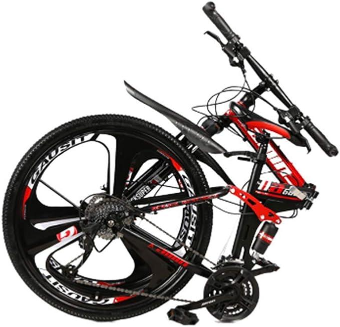 Novokart-Plegable Deportes/Bicicleta de montaña 24/26 Pulgadas 3 Cortador, Amarillo