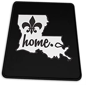 Louisiana Home Mouse Pad, Non-Slip Rubber Mouse Mat Funny Gaming Mousepads for Laptop and Computer 10x12x0.12inch
