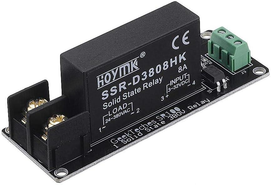 380V 8A 1/2/4 Canales de relé de Estado sólido Tablero del módulo de Alto y bajo Nivel de Disparo del Interruptor del Controlador (Color : 1 Channel)