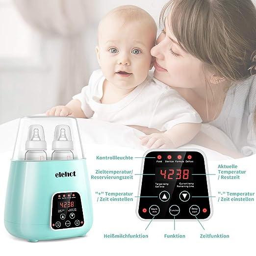 4 in 1 Flaschenwärmer baby Doppelt Babykostwärmer Sterilisator Babykosterwärmer