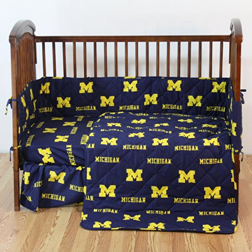 (College Covers Michigan Wolverines 5 Piece Baby Crib Set )
