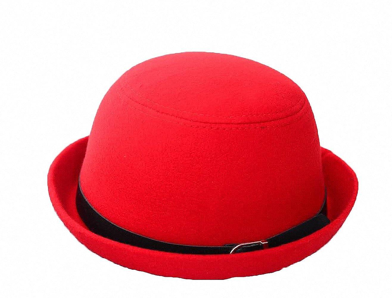 Tobe-U Cloche Bucket Bowler Fedora Floppy Derby Vintage Felt Hat Cap