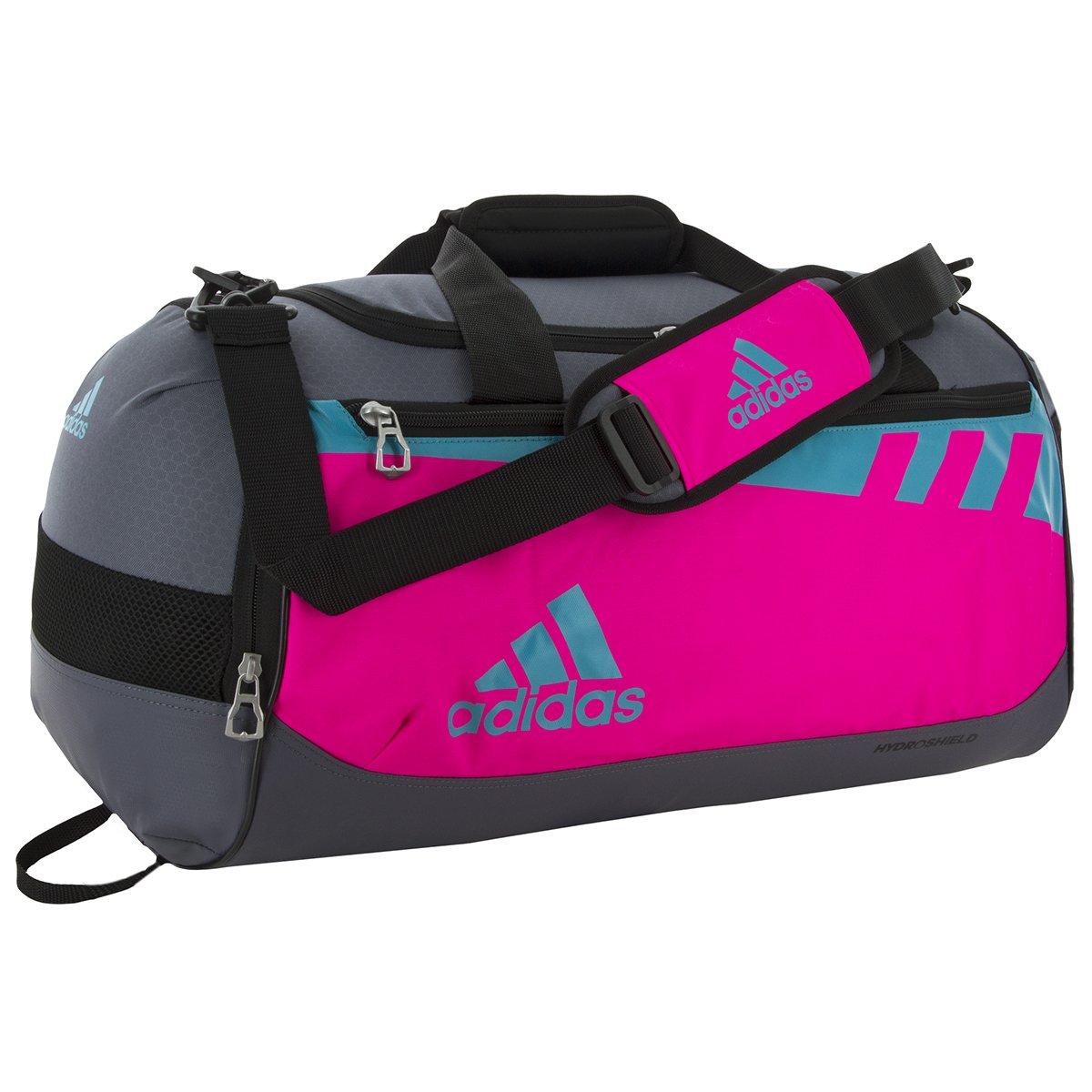 adidas Team Issue Duffel Bag, Shock Pink/Shock Green/Onyx, Small