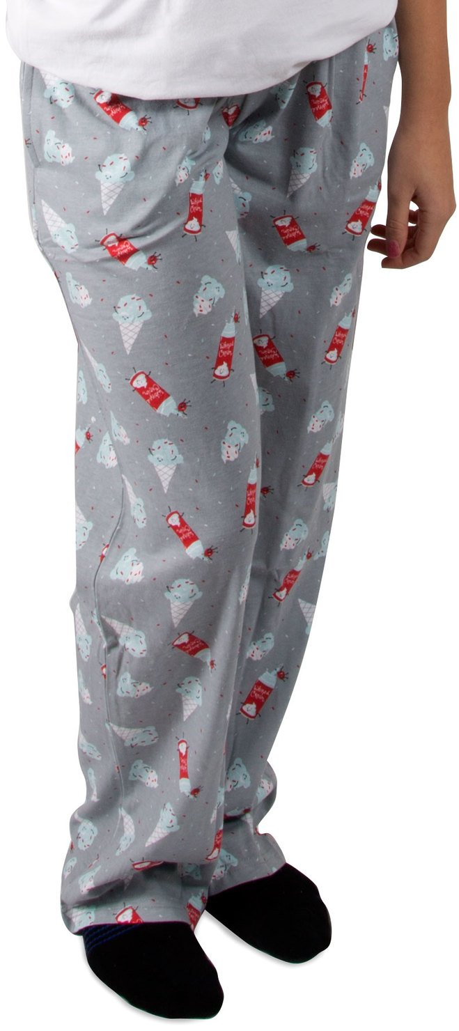Late Night Snacks - Ice Cream and Whipped Cream Unisex Pajama Pants with Pockets - Small