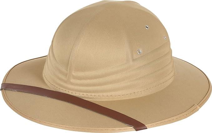 Jungle Fancy Dress Explorer Party adjustable Adult Deluxe Safari Pith Helmet