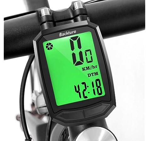 Foxpic Inalámbrico Impermeable Bicicleta Bici Ordenador Odómetro ...