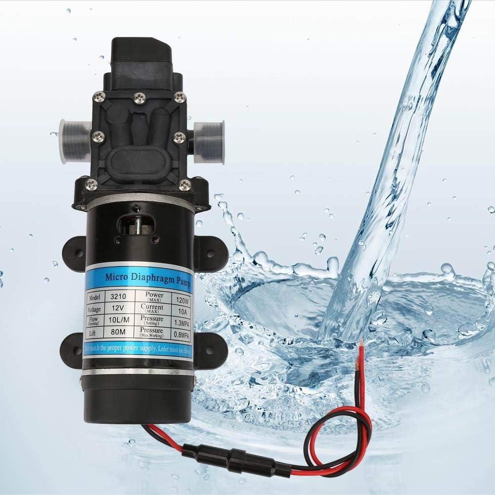 12V//24V 120W Bomba de Agua el/éctrica 10L//m Bomba de diafragma autocebante para Lavadora de Alta presi/ón Hogar Industrial Suchinm Bomba de Agua de Alta presi/ón 12V//10A