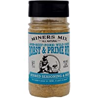 Miners Mix Roast and Prime Rib Herbed Seasoning Rub with Rosemary, Garlic, Black Pepper, Oregano, and Thyme for the Perfect Crust on Your Roast, Pork or Lamb. Low Salt, All Natural, No MSG