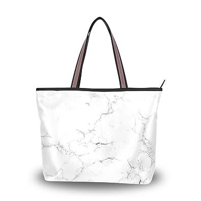 2cfc2c49dd7f Amazon.com  Cooper girl White Marble Tote Bag Top Handle Handbag Shoulder  Bag Large Capacity  Shoes