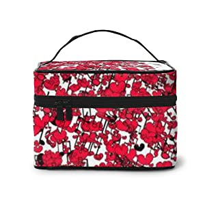 Portable Travel Toiletry Bag Organizer,A Vector Of Beautiful Decorative Item For Valentines Day. Cosmetic Bags For Women Girl,Makeup Bag, Storage Bag