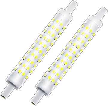J Type 118mm Double Ended T3 R7s Halogen Bulb Replacement Klarlight J118 Led Dimmable R7s Base Light Bulb 10 Watt Warm White Tube Light Bulbs 75 100w Halogen Equivalent R7s Flood Lights