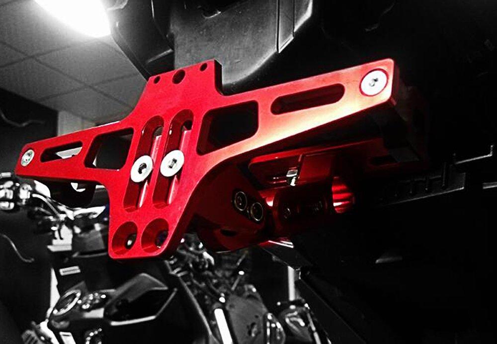 Fender Eliminator Portamatriculas Soporte de Matrículas para Kawasaki Z650 Z750 Z800 Z900 Z1000 Z1000SX Z300 Z250/ Yamaha MT-01 MT-03 MT-07 MT-09 ...