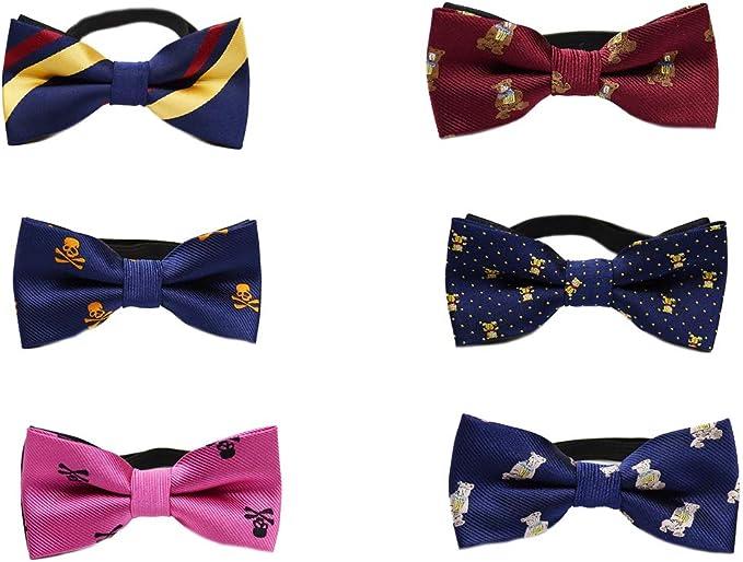 Yiyida - Juego de 6 corbatas para niños con diseños variados ...