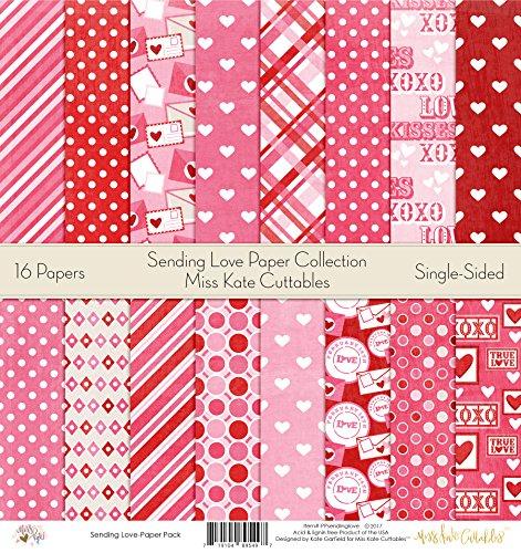 (Pattern Paper Pack - Sending Love - Scrapbook Premium Specialty Paper Single-Sided 12