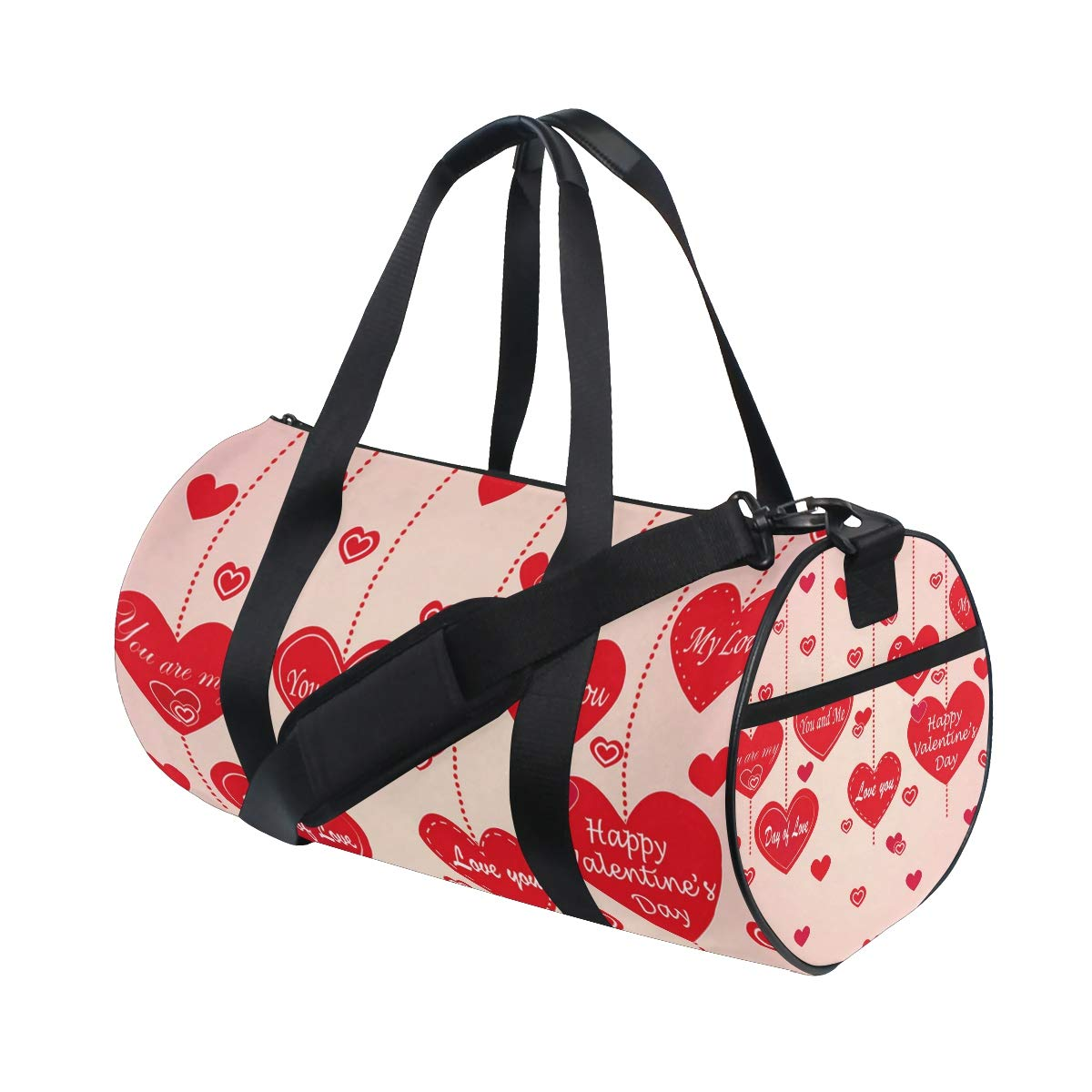 Sports Gym Duffel Barrel Bag Romantic Love Valentines Day Travel Luggage Handbag for Men Women