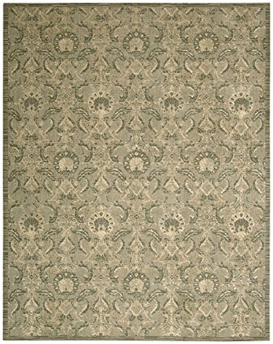 Nourison Silken Allure (SLK03) Light Green Rectangle Area Rug, 8-Feet 6-Inches by 11-Feet 6-Inches (8'6