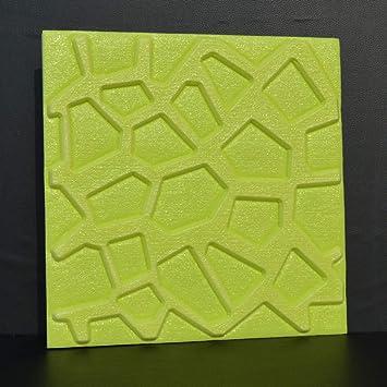 HX stickers Fácil Auta-Adhesivo 3D Geométrica Adhesivo de Pared, Espuma de Polietileno Ladrillo