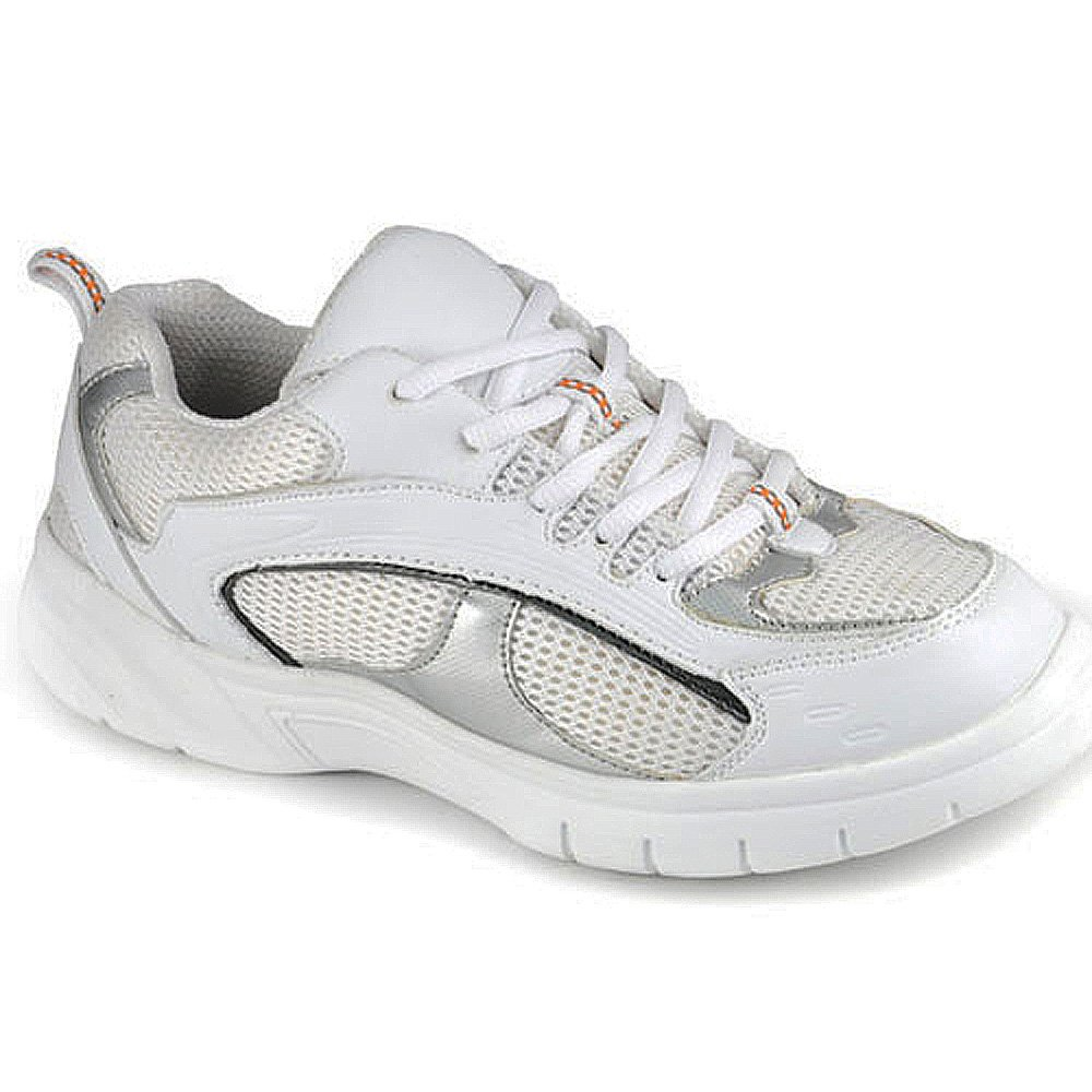 Apis Mt. Emey 9701-3 Men's Therapeutic Extra Depth Shoe Leather Lace 12.5 X-Wide (4E) White/Silver Lace US Men|White and Silver