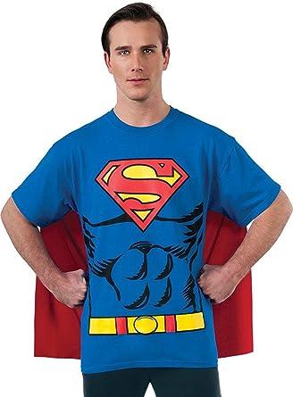 Amazon Com Dc Comics Superman Costume T Shirt With Cape Clothing