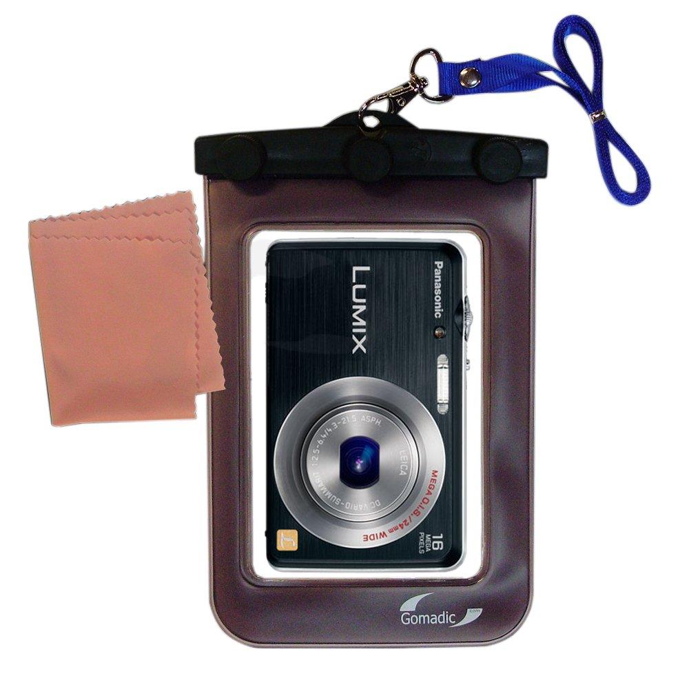 Gomadic防水カメラ保護バッグSuitable for the Panasonic Lumix DMC - dmc-fh8 K – UniqueフローティングデザインKeepsカメラClean and Dry   B00ICSHFLO