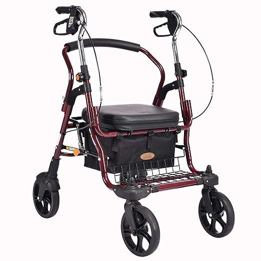 Qucasyl Estándar de Acero Plegable Andador para Adultos Walker ...