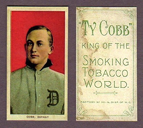 Ty Cobb 1909-11 T206 Tobacco (Red) (Sweet Caporal Back) Baseball Reprint Card (In its own case) (Detroit) by t206