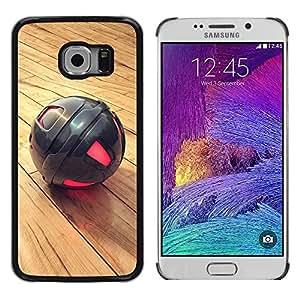 TopCaseStore / la caja del caucho duro de la cubierta de protección de la piel - Metal Sphere - Samsung Galaxy S6 EDGE SM-G925