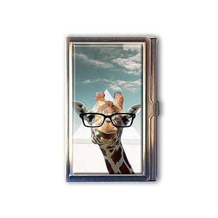 Amazon jkfgweeryhrt shawnex hipster giraffe geek glass custom jkfgweeryhrt shawnex hipster giraffe geek glass custom portable business bank name card case holder box pocket colourmoves