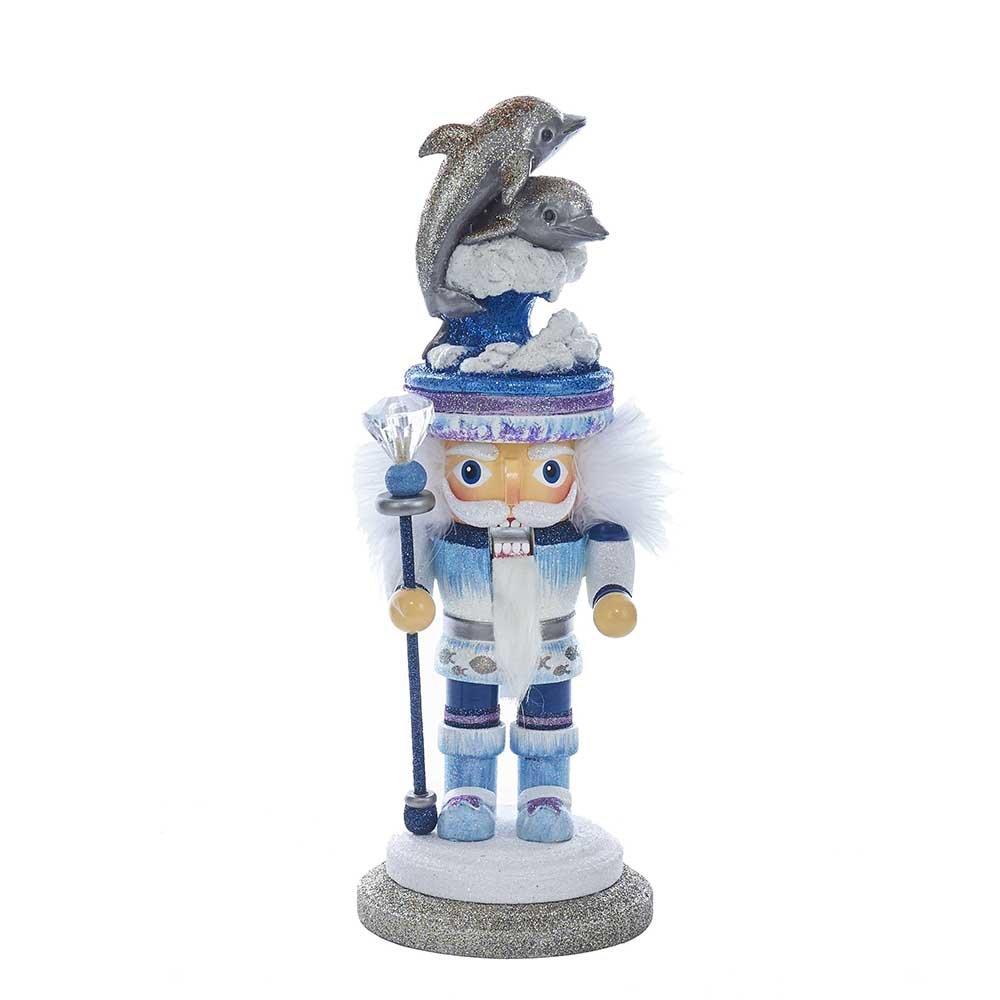 Kurt Adler HA0314 12'' Hollywood Dolphin Hat Nutcracker