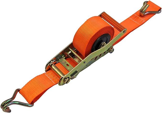 Las 10309 Automatik Spanngurt Mit Ratsche Und J Haken Orange 5m Set Of 2 Auto
