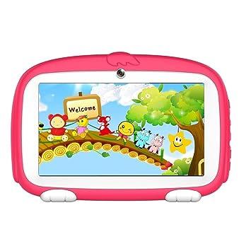 Diadia Kids Phablet RK3126 - Tableta táctil de 7 pulgadas (8 GB, RAM de 1 GB, Android 6.0, tableta, TF, ranuras para tarjetas, Bluetooth, GPS, WiFi, ...
