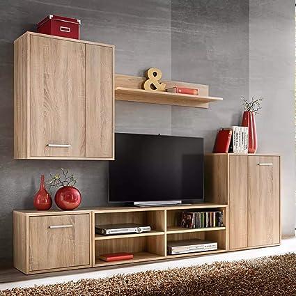 Tidyard 5 Piezas Mueble Salón Comedor Moderno Mesa para TV ...