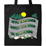 Inktastic Civil Engineers Road To Happiness Tote Bag