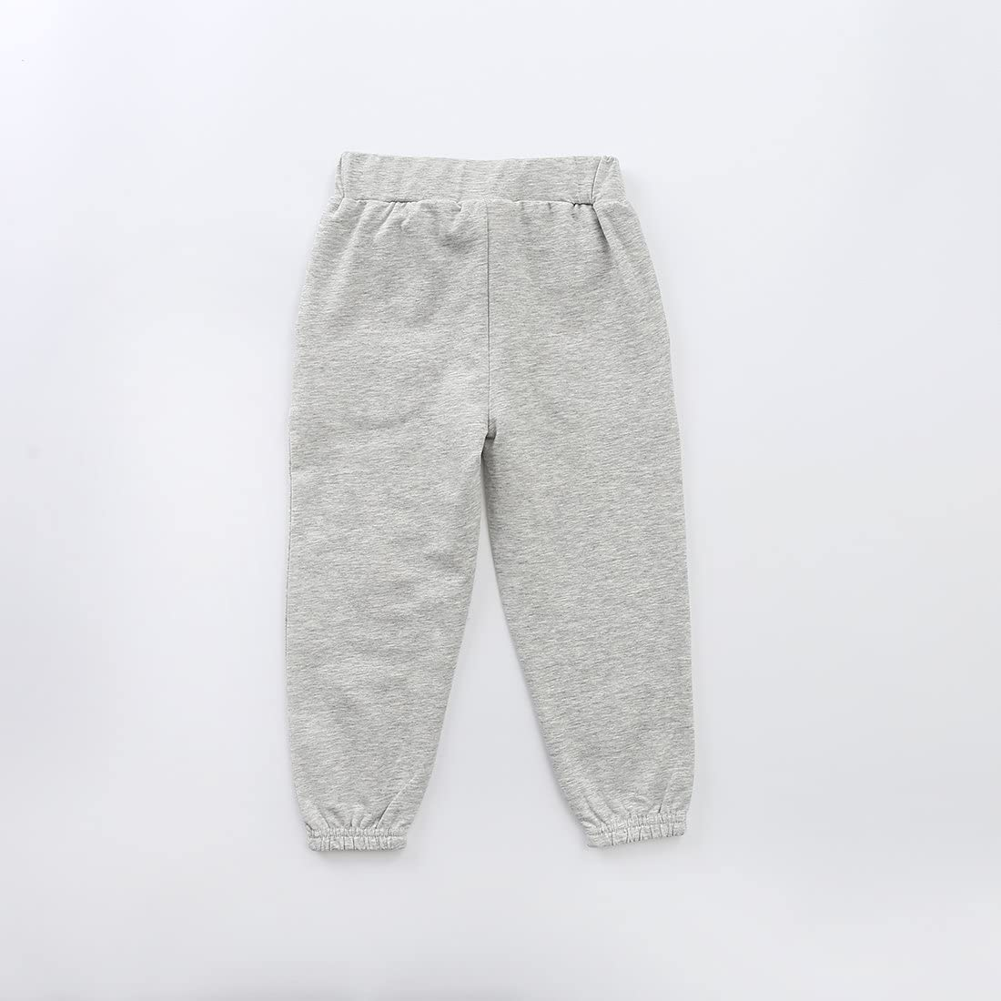 MOMOLAND Toddler Girls French Terry Jogger Pants Grey Navy