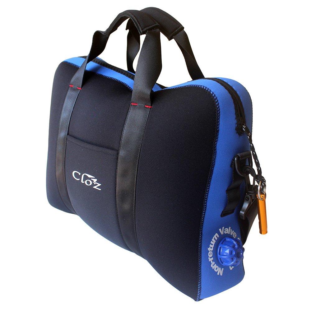 CLO'Z クロッツ 完全防水ブリーフケース 14L B077NWXM24 ブルー(WP-03-BL) ブルー(WP03BL)
