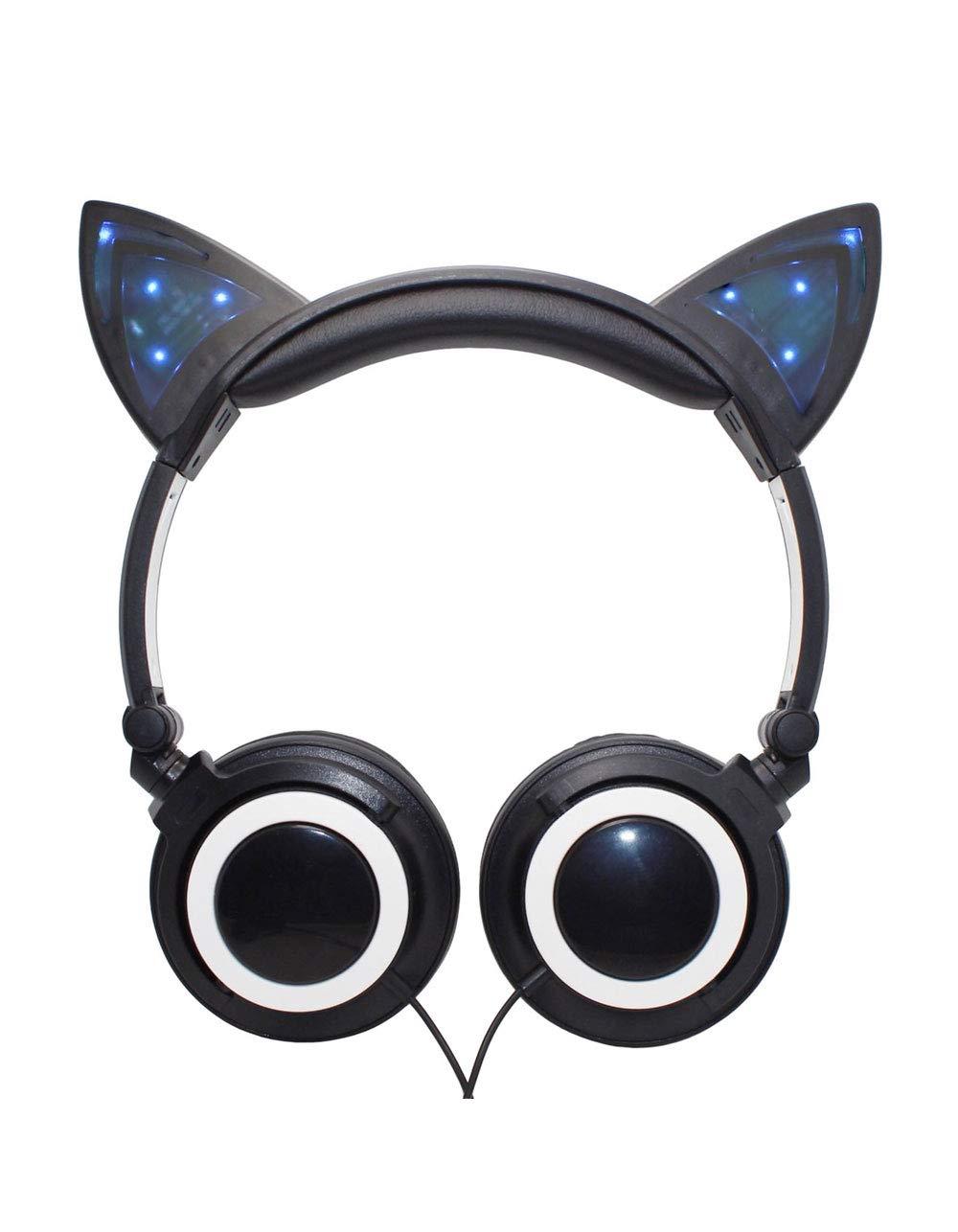 猫耳ヘッドフォン ブラック GG-CLED-BLK  ブラック B07PQW8Z33