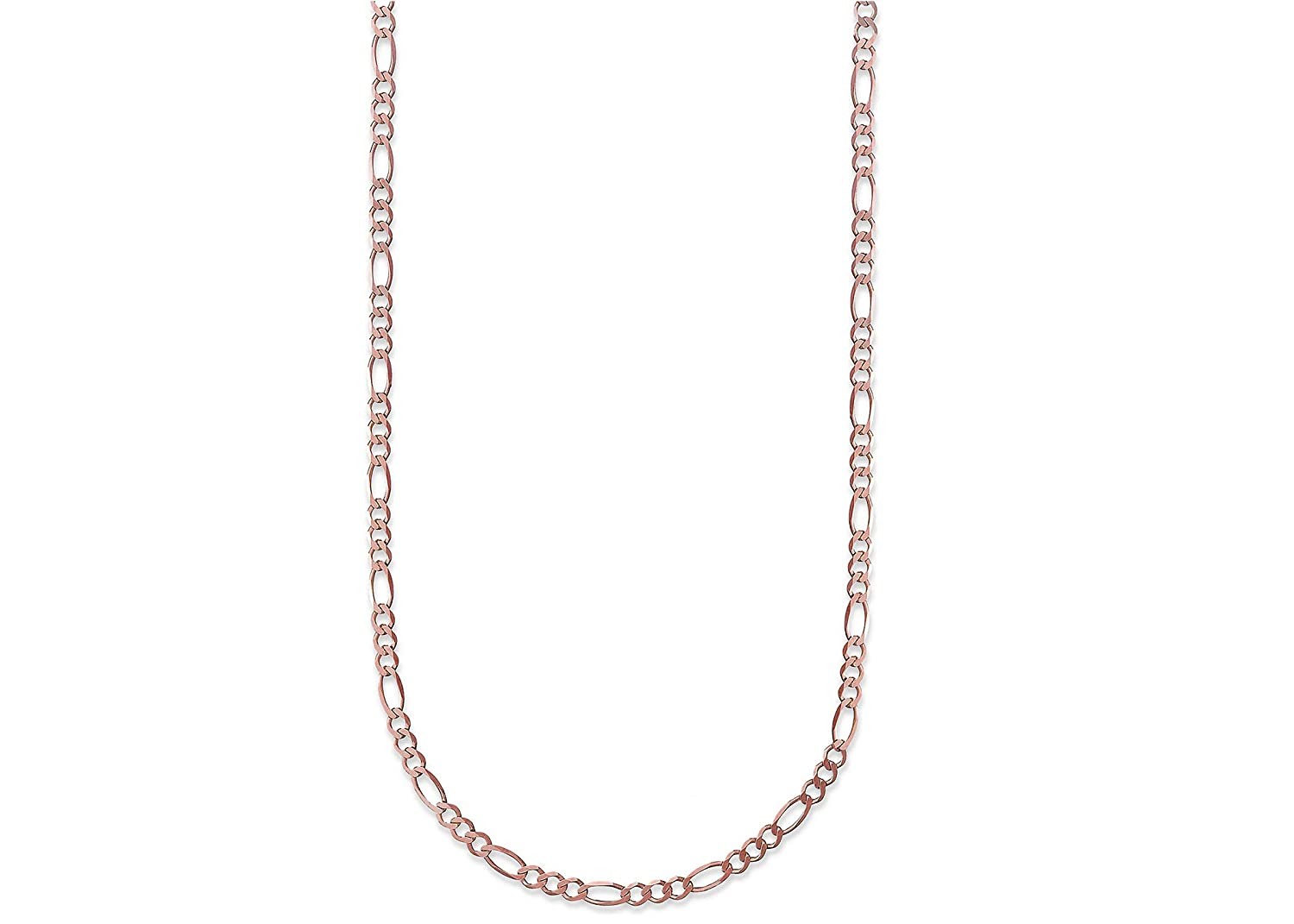 Made In Italy 18K Gold 2.3mm Figaro Link Chain Bracelet or Necklace Multiple Lengths /& Colors Available
