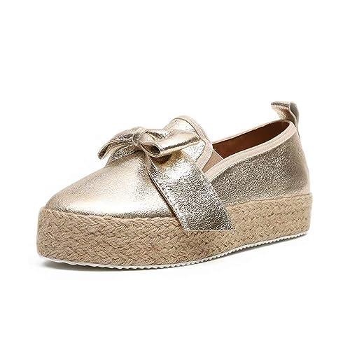 Slippers Espadrilles Damen Low Top Frauen Plateau 4.8cm Leicht Bequem Segeltuch Elegant Flache Schuhe Streifen Schwarz Weiß Gold Rot Gelb 35 43 EU