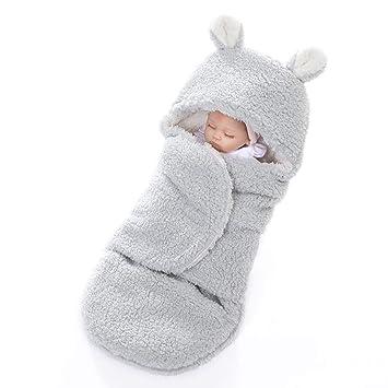 CRTE Lindo Oso bebé Manta usable Bolsa de Dormir 0-6 Meses, a Prueba