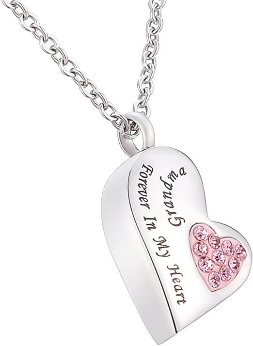 Cremation Urn Print Pet Necklace Pendant for Memorial Grandma