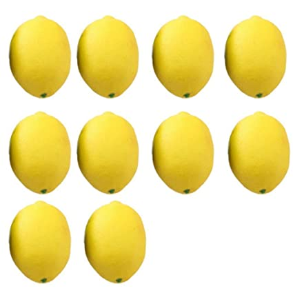 Amazon Coscosx 10 Pcs Fake Fruit Lemons Artificial Limes For