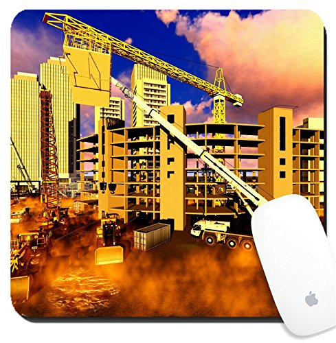 Luxlady Suqare Mousepad 8x8 Inch Mouse Pads/Mat design IMAGE ID 25521929 Construction site abstract colorful illustration