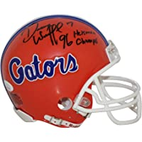 $77 » Danny Wuerffel Florida Gators Autographed Signed Riddell Mini Helmet w/ 96 Heisman/Champs Inscription - JSA Authentic