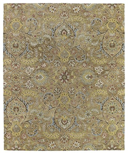 By 05 Ivory Rug (Kaleen Rugs Helena Collection 3200-05 Gold Hand Tufted 2' x 3' Rug)