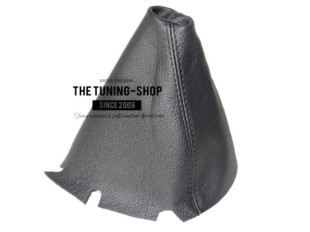 The Tuning-Shop Ltd for Mercedes C-Class W203 2004-07 Manual Shift Boot Black Genuine Leather