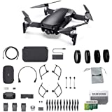 DJI Mavic Air Fly More Combo (Onyx Black) Portable Quadcopter Drone Bundle with 64GB SD Card, 4-Pack Lens Filter Set and More