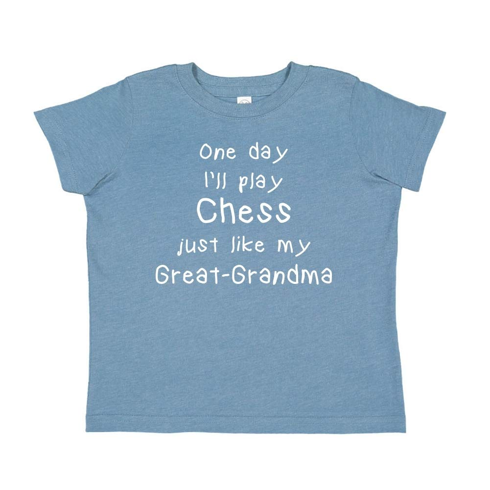 One Day Ill Play Chess Just Like My Great-Grandma Toddler//Kids Short Sleeve T-Shirt