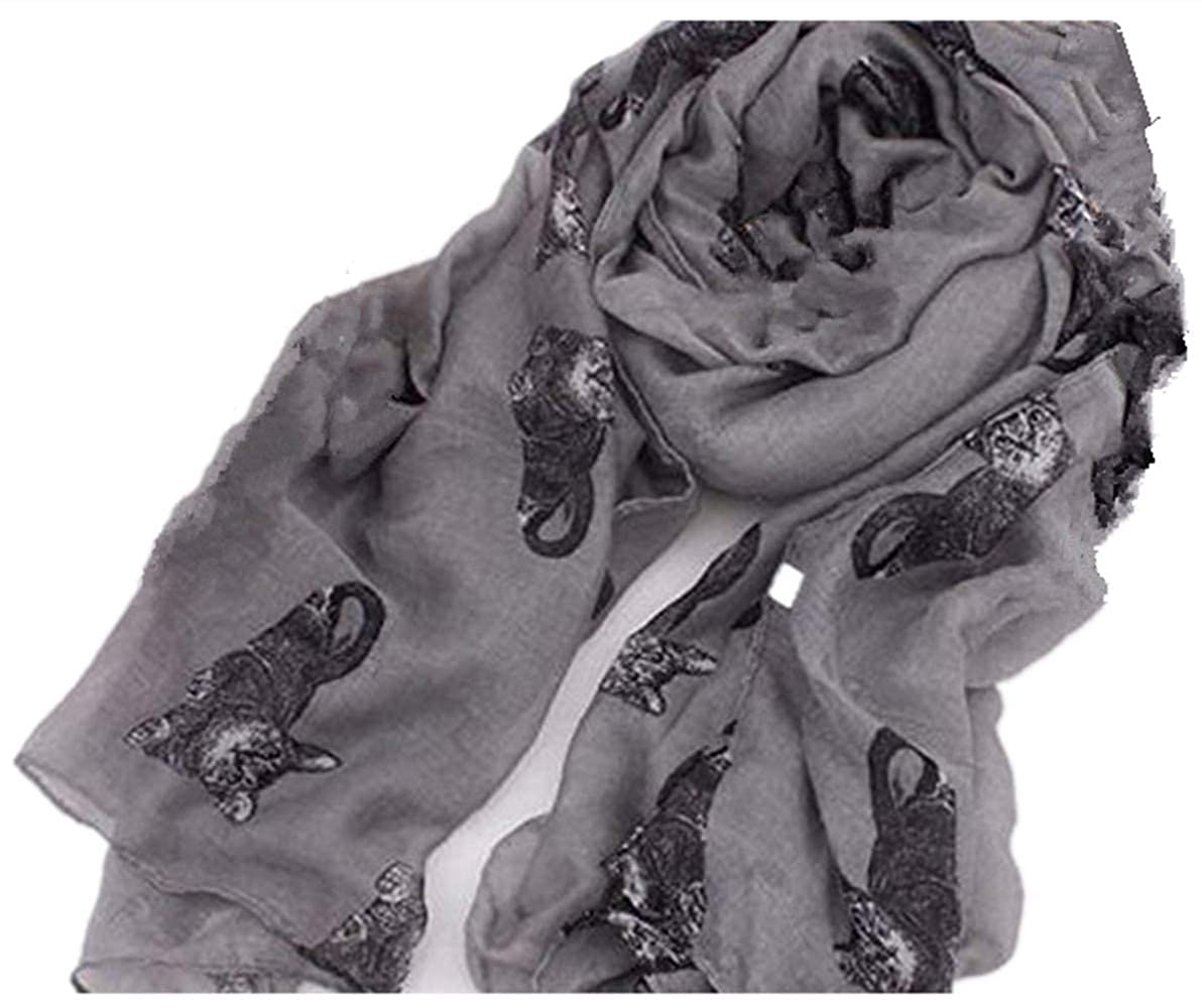 ' A Liittle Tree' New Lady Cutie Cat Women Fashion Stylish Soft Scarf Shawl Wrap Headscarf Stole(A Liittle Tree) 1