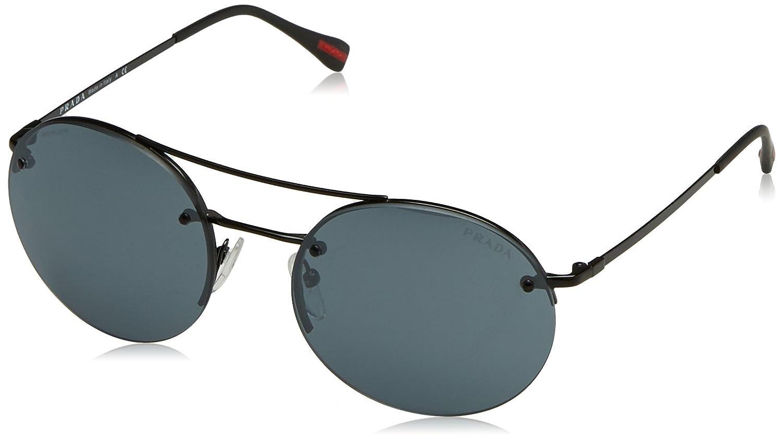 ba65c917fd64 Amazon.com  Prada Sport PS50RS 7AX5L0 Black PS50RS Pilot Sunglasses Lens  Category 3 Lens Mi  Prada Sport  Clothing