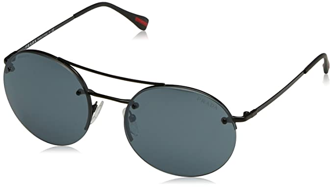 f806f36e25 Amazon.com  Prada Linea Rossa Unisex 0PS 54RS Black Black Light Grey ...